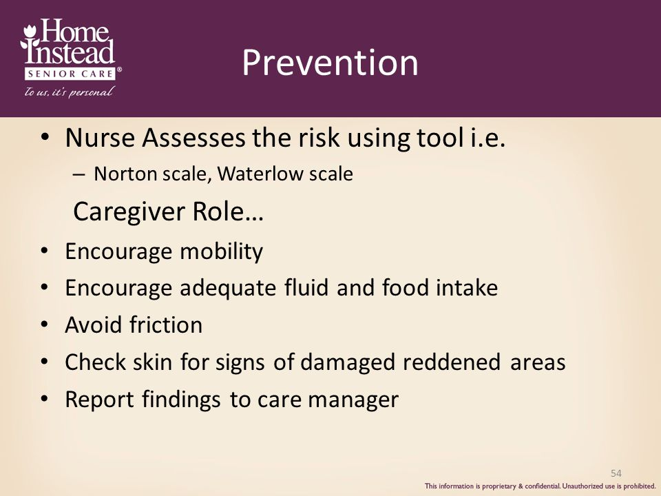 Prevention Nurse Assesses the risk using tool i.e. Caregiver Role…