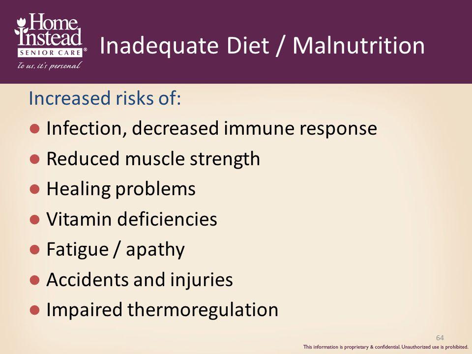 Inadequate Diet / Malnutrition