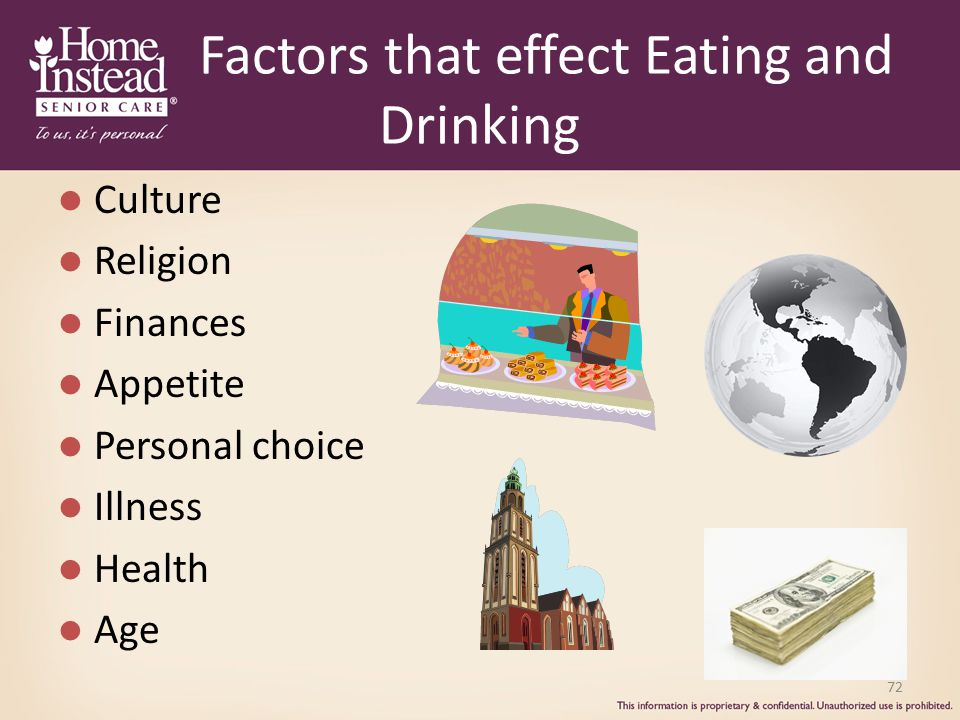 Factors that effect Eating and Drinking