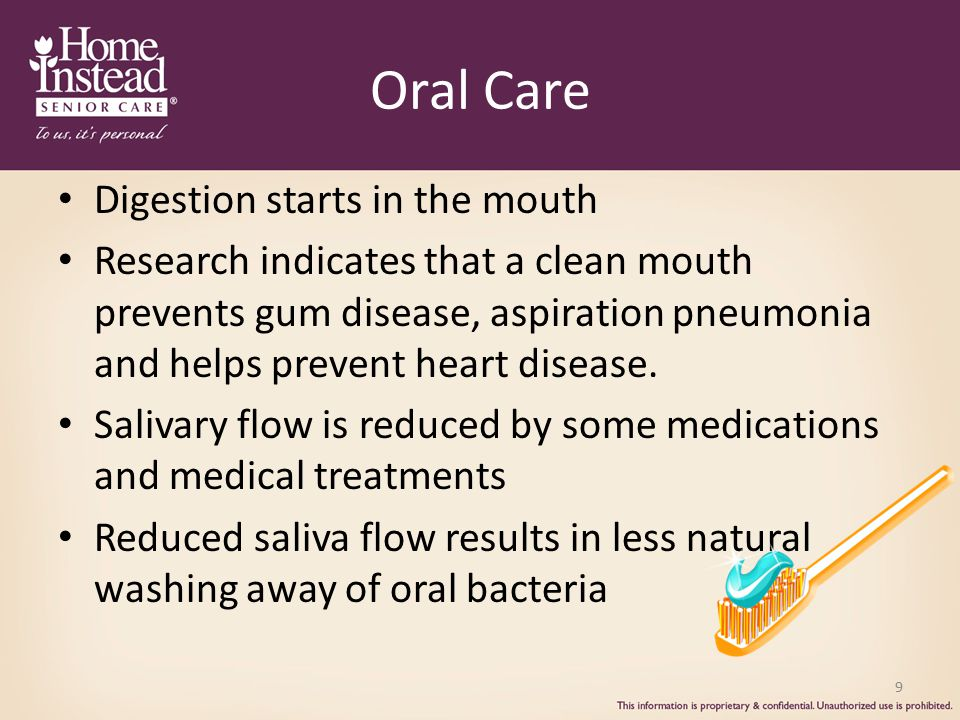 Oral Care Digestion starts in the mouth