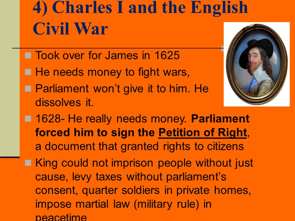 4) Charles I and the English Civil War