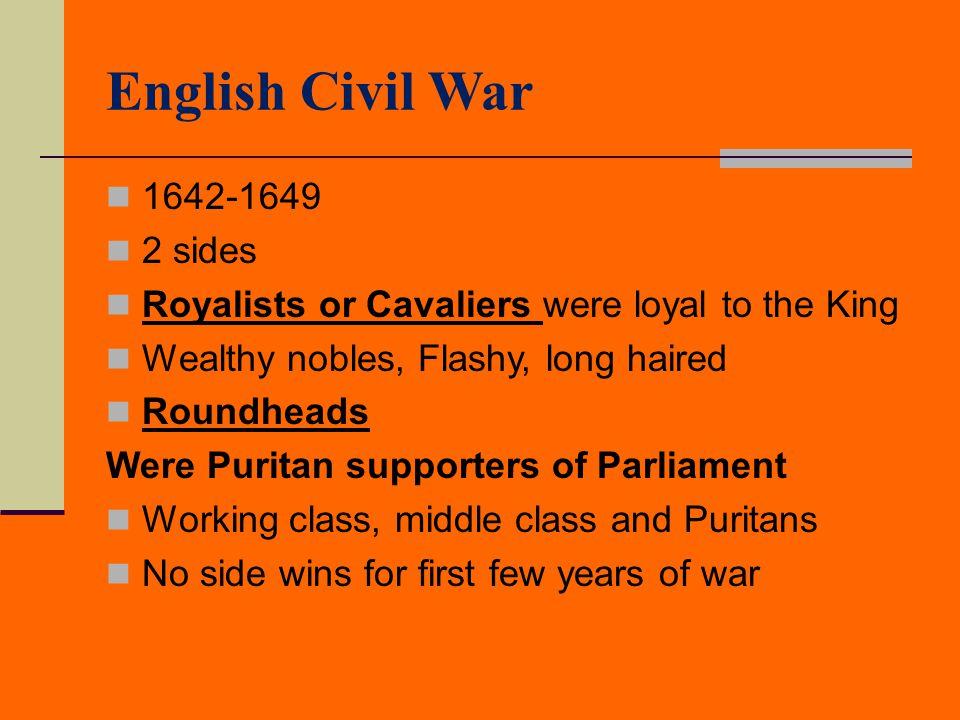 English Civil War 1642-1649 2 sides