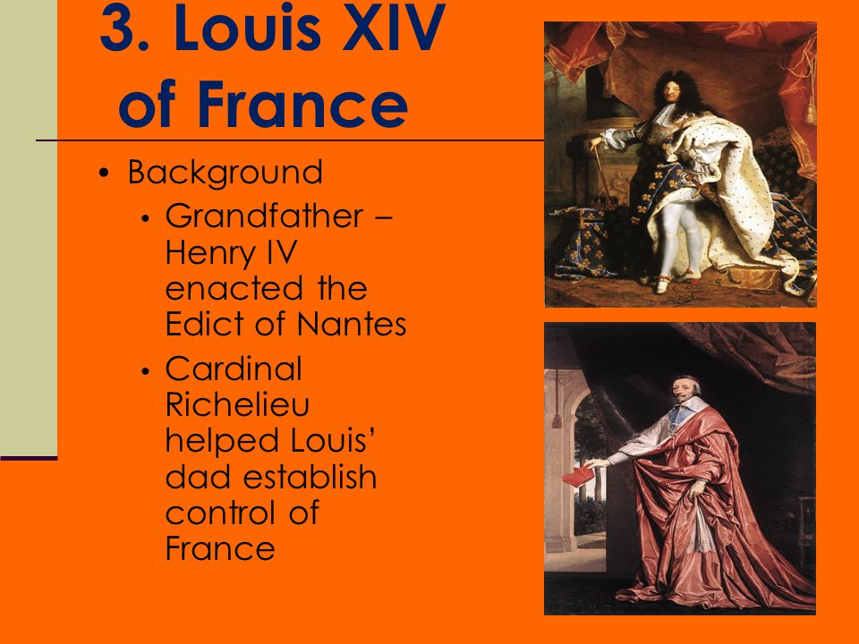 3. Louis XIV of France Background
