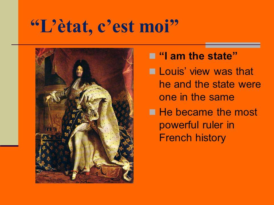 L'ètat, c'est moi I am the state