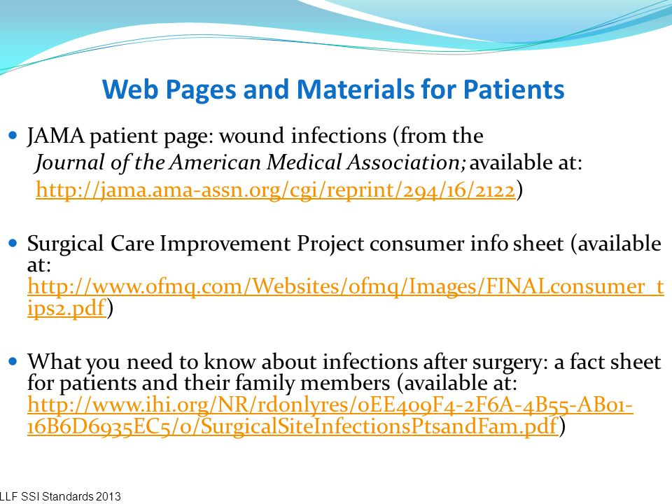 Web Pages and Materials for Patients