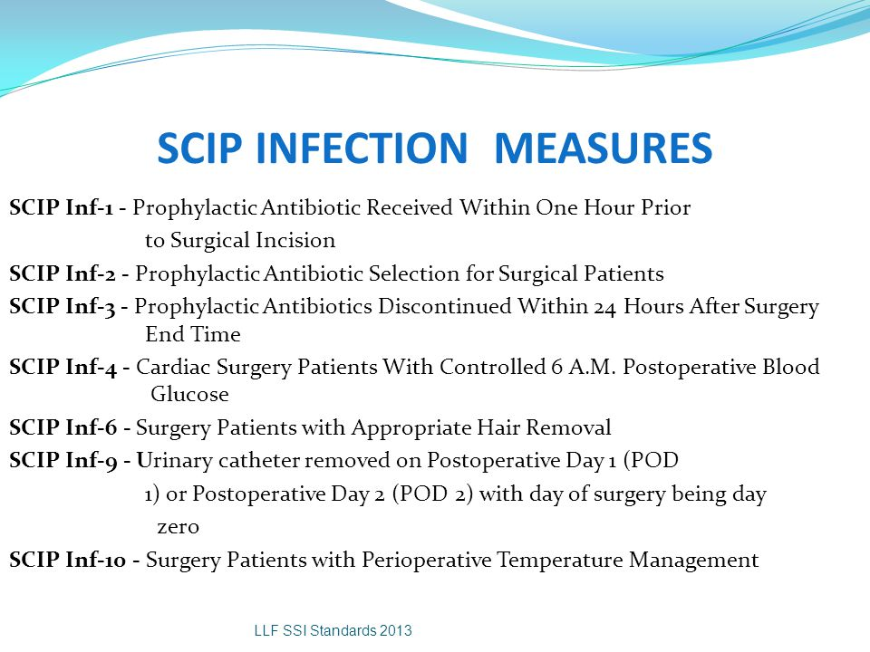 SCIP INFECTION MEASURES