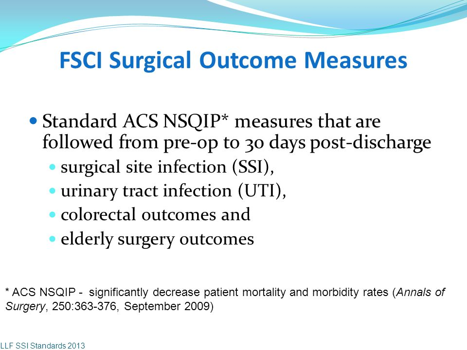 FSCI Surgical Outcome Measures