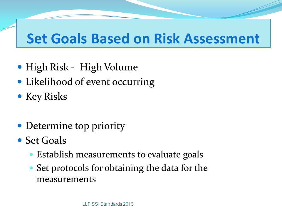 Set Goals Based on Risk Assessment