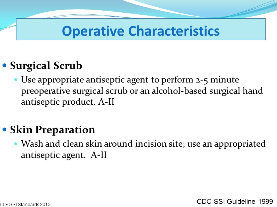 Operative Characteristics