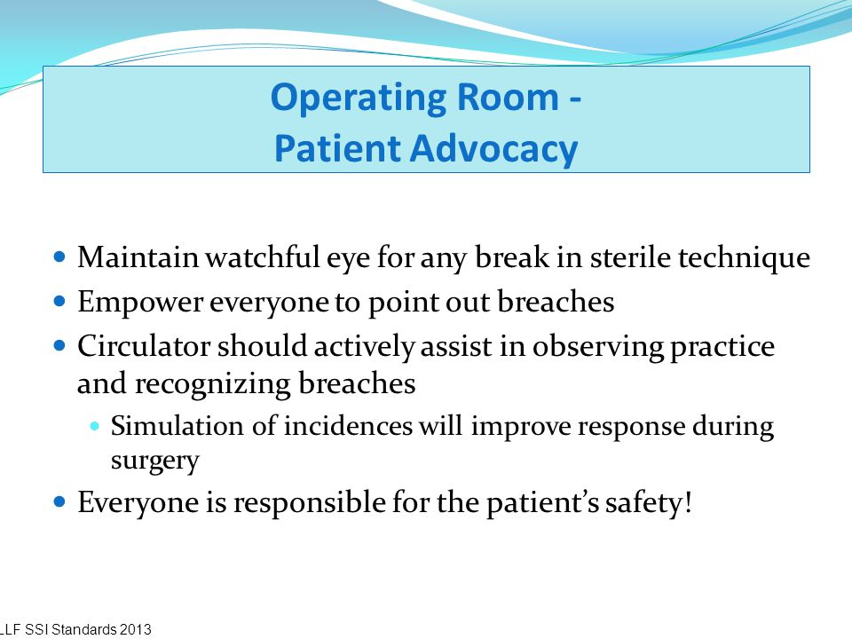Operating Room - Patient Advocacy