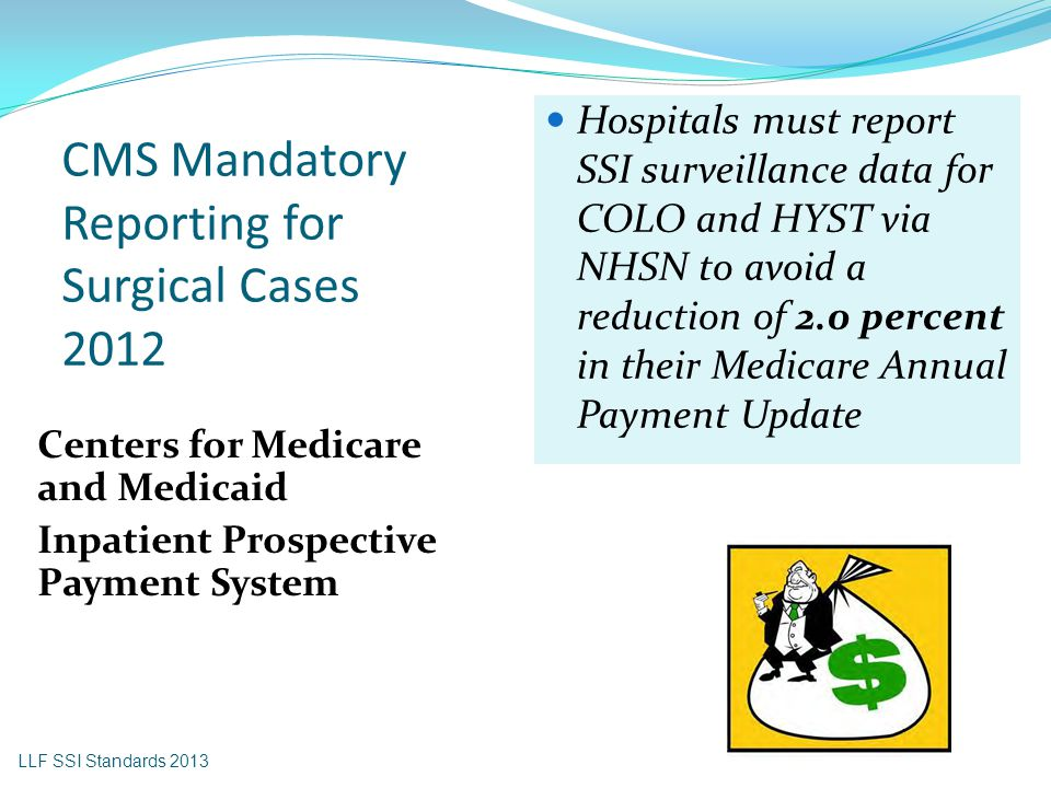 CMS Mandatory Reporting for Surgical Cases 2012