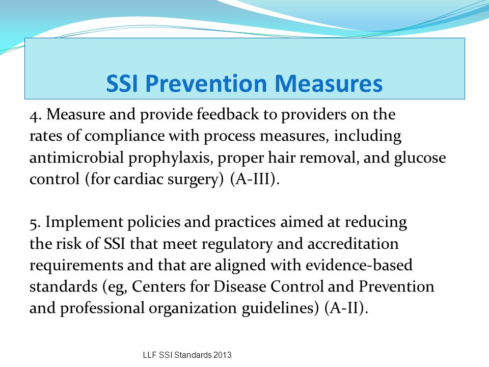 SSI Prevention Measures