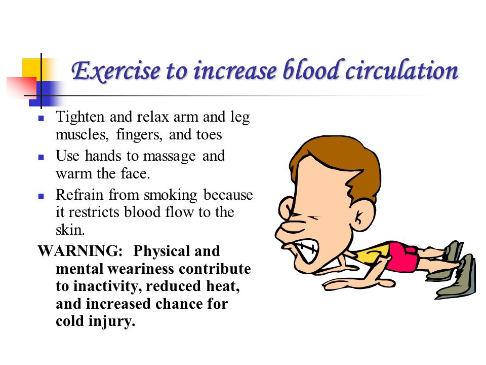 Exercise to increase blood circulation