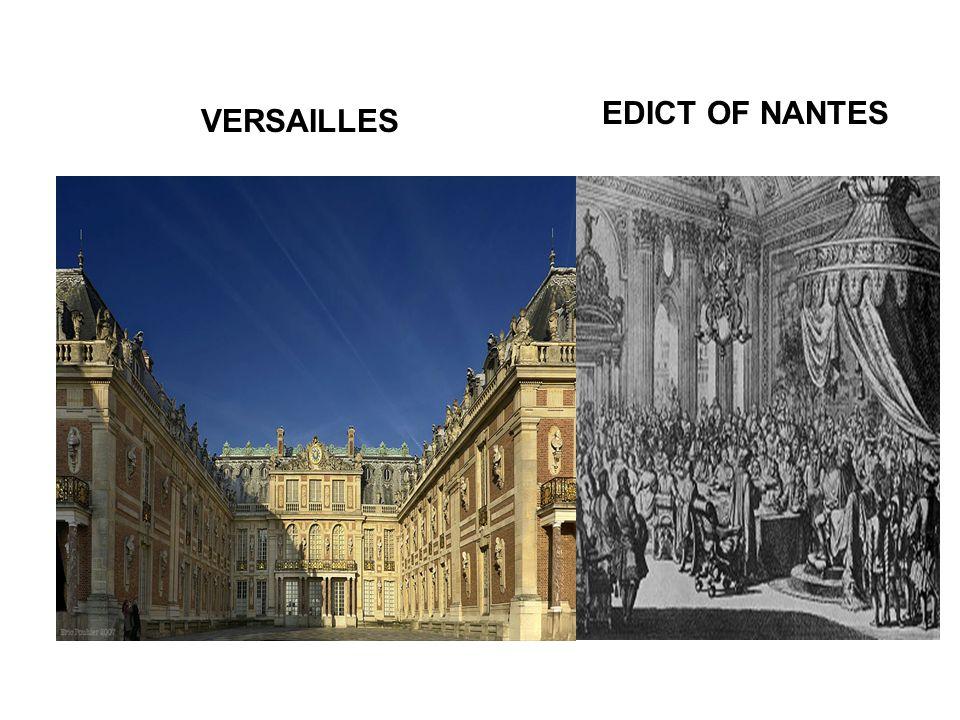 EDICT OF NANTES VERSAILLES