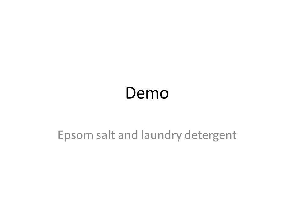 Epsom salt and laundry detergent