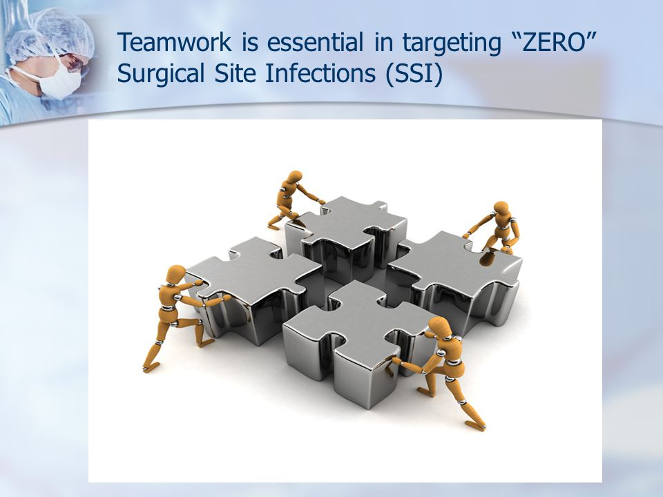 Teamwork is essential in targeting ZERO Surgical Site Infections (SSI)