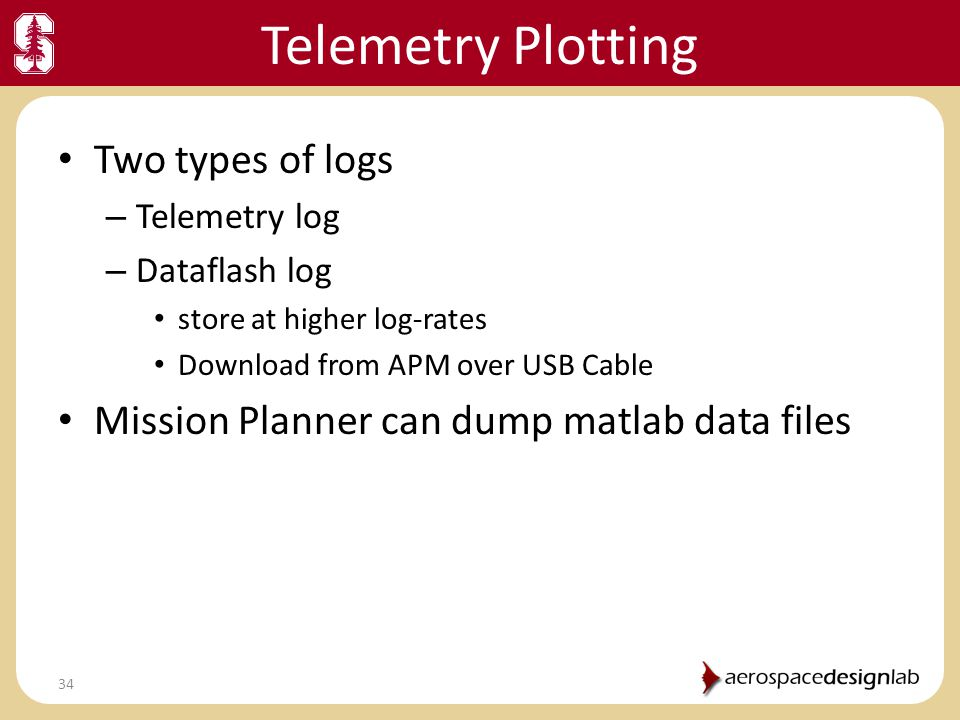 Telemetry Plotting Two types of logs