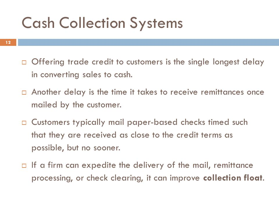 Cash Collection Systems