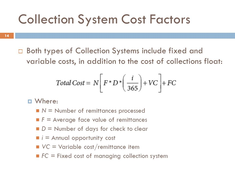 Collection System Cost Factors