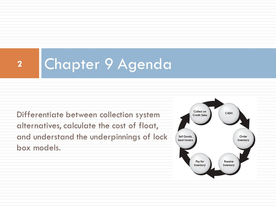 Chapter 9 Agenda