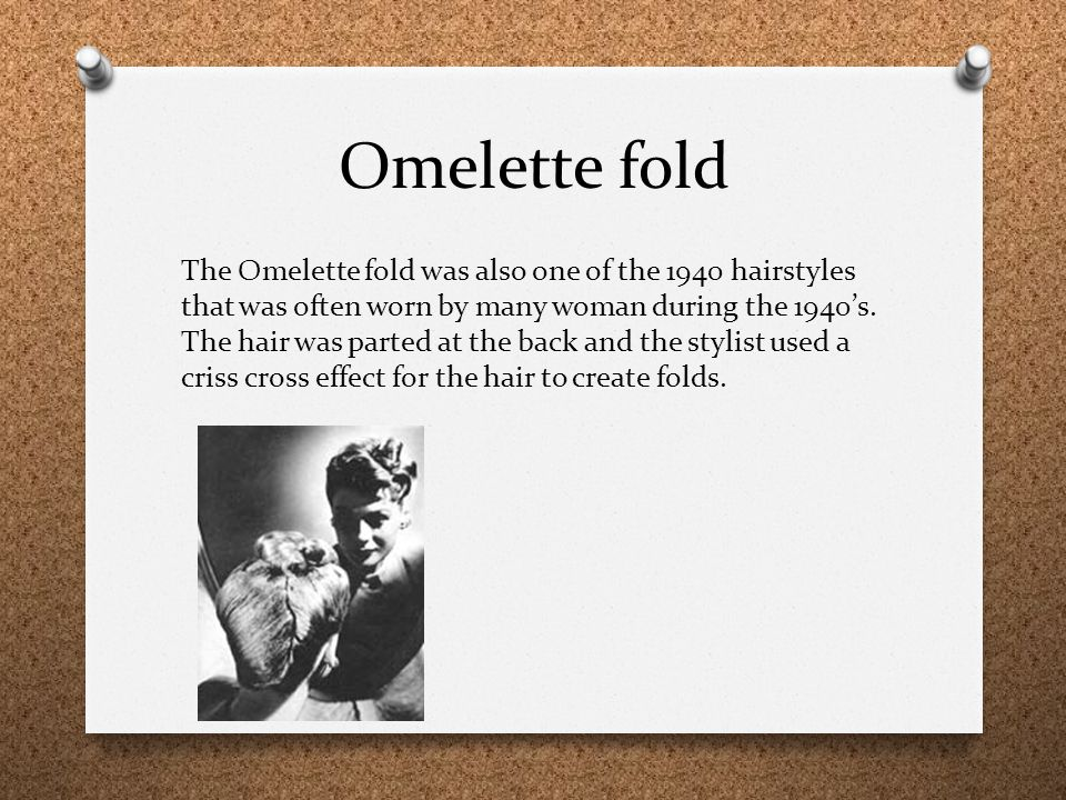 Omelette fold