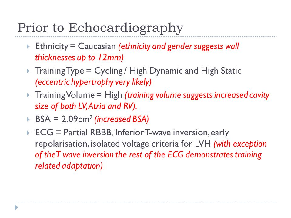 Prior to Echocardiography