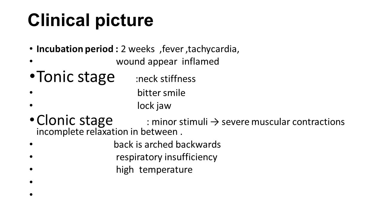 Tonic stage :neck stiffness