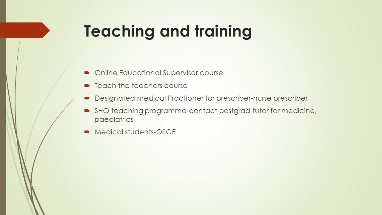 Teaching and training Online Educational Supervisor course