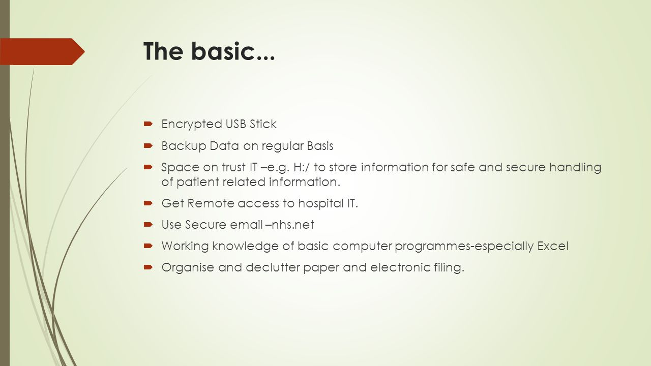 The basic... Encrypted USB Stick Backup Data on regular Basis