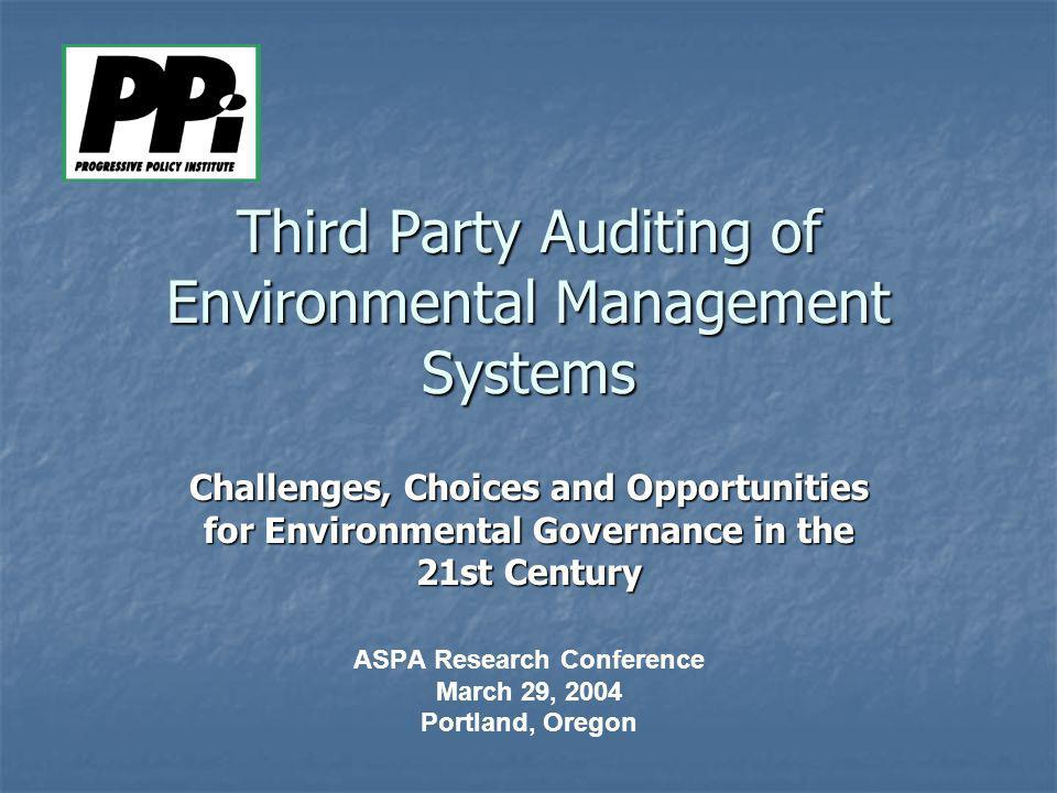 Third Party Auditing of Environmental Management Systems
