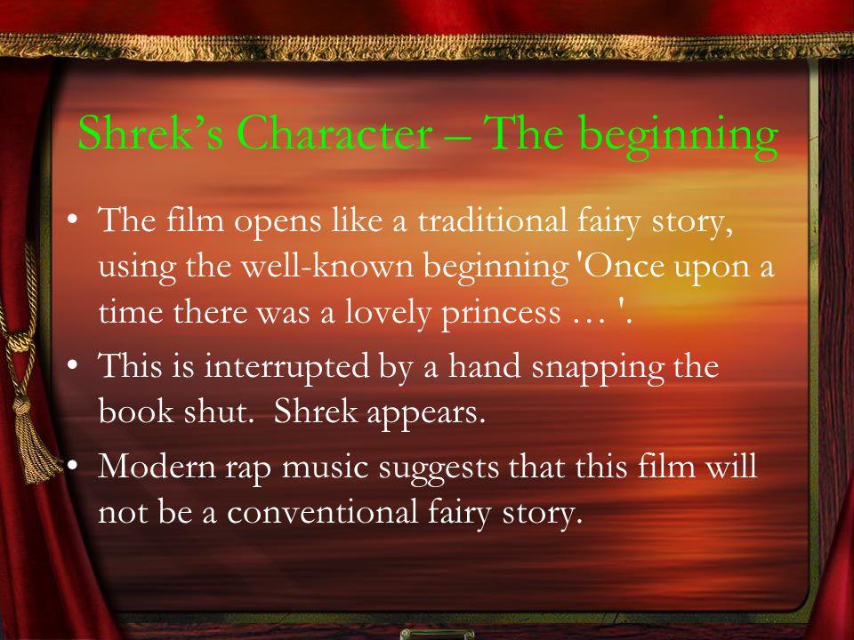 Shrek's Character – The beginning