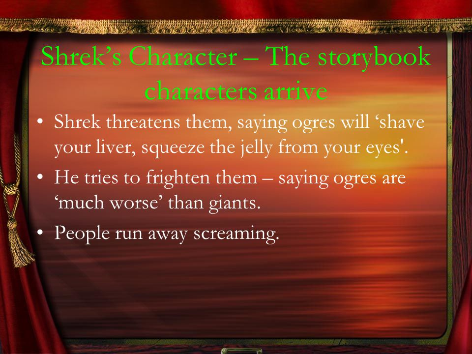 Shrek's Character – The storybook characters arrive