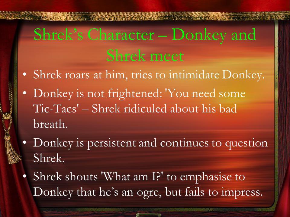 Shrek's Character – Donkey and Shrek meet