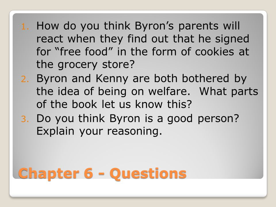 How do you think Byron's parents will react when they find out that he signed for free food in the form of cookies at the grocery store