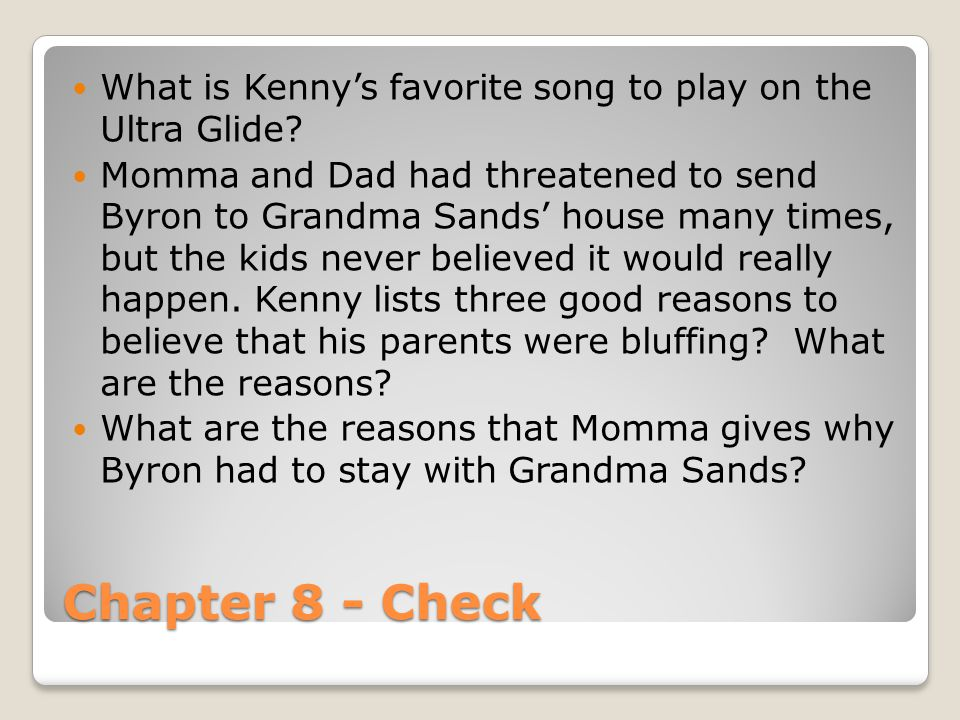 What is Kenny's favorite song to play on the Ultra Glide