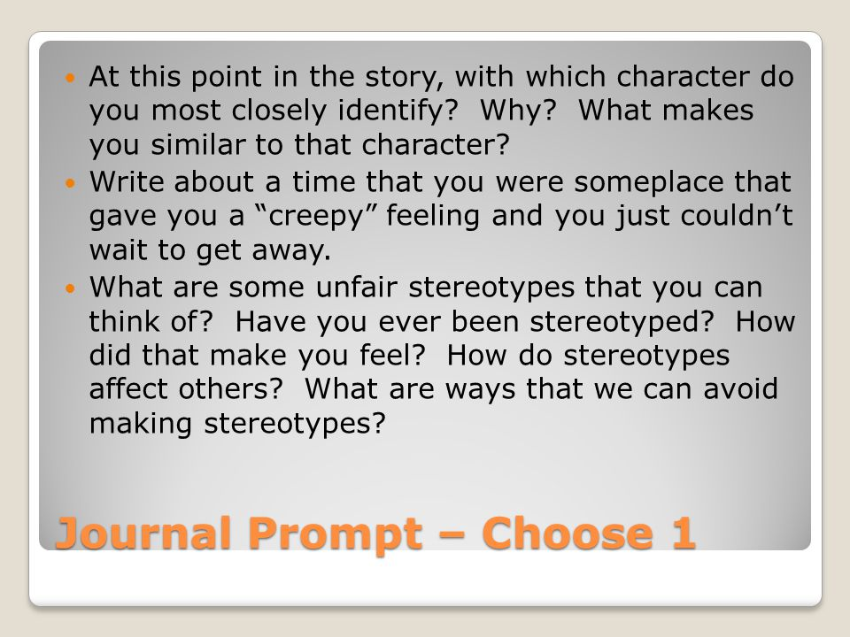 Journal Prompt – Choose 1