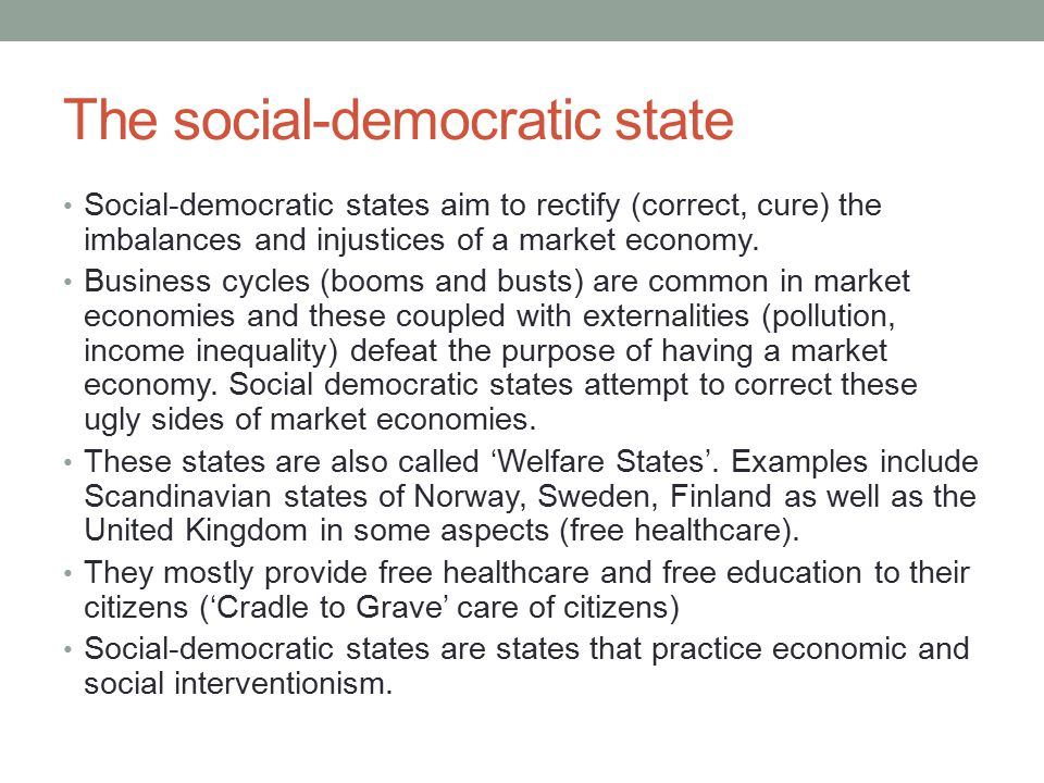 The social-democratic state