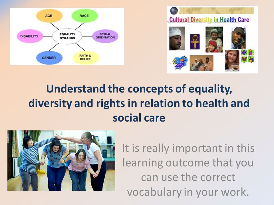 explain the concepts of equality diversity and Although sometimes used interchangeably, the terms 'equality' and 'diversity' are not the same equality is about 'creating a fairer society, where everyone.
