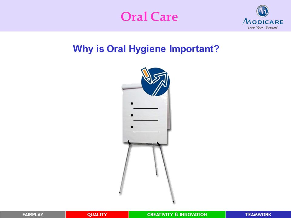 Oral Care Why is Oral Hygiene Important _____