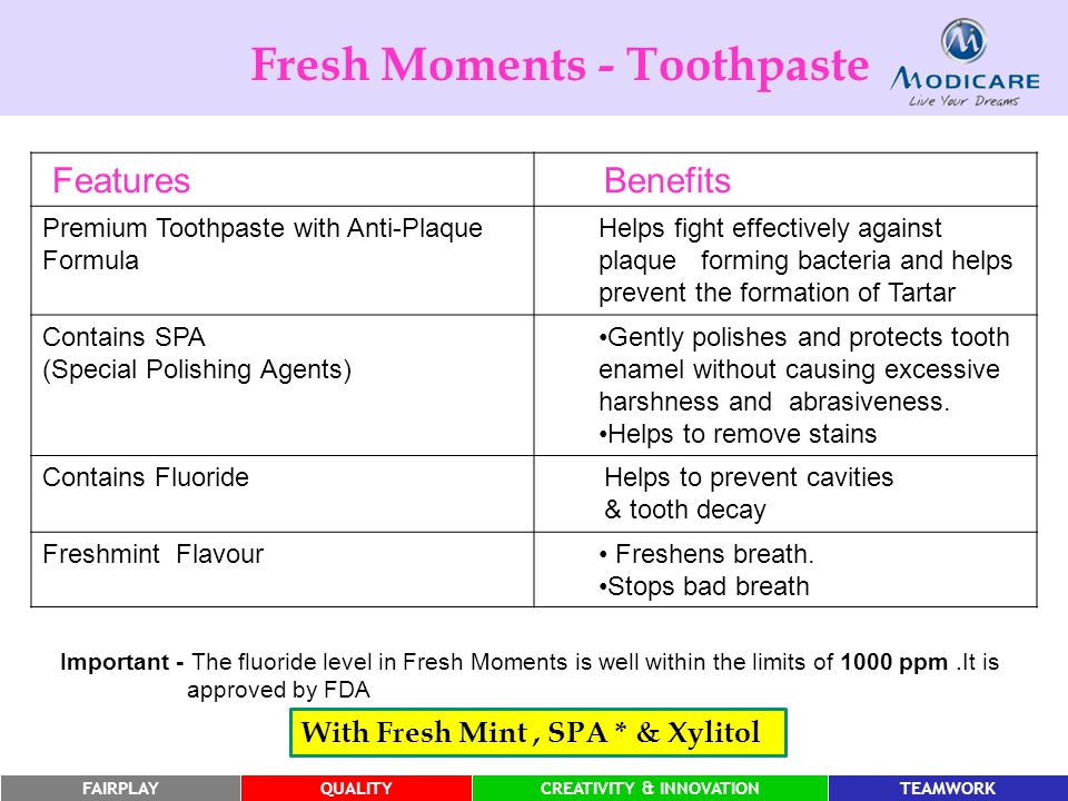 Fresh Moments - Toothpaste