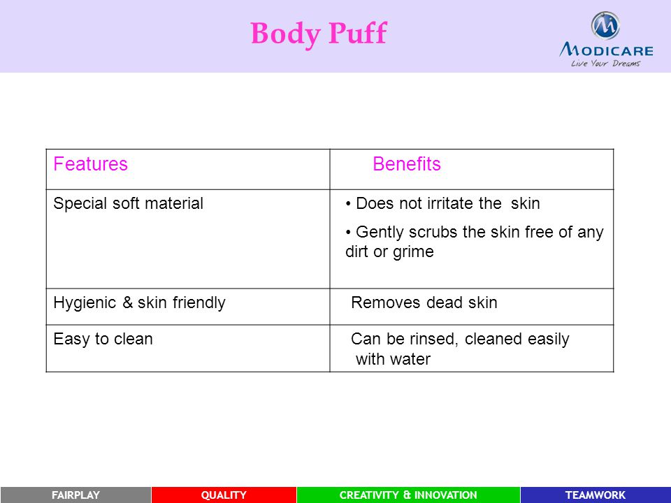 Body Puff Features Benefits Special soft material
