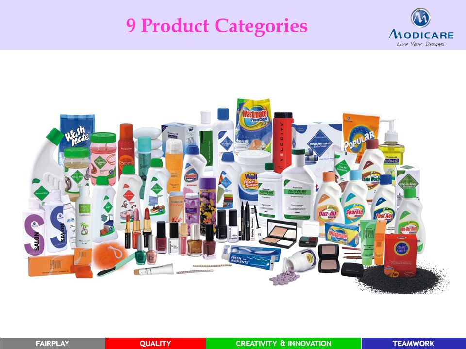 9 Product Categories