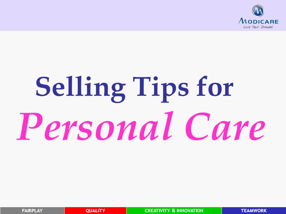 Selling Tips for Personal Care
