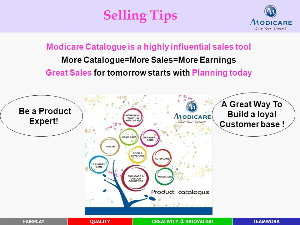 Selling Tips Modicare Catalogue is a highly influential sales tool