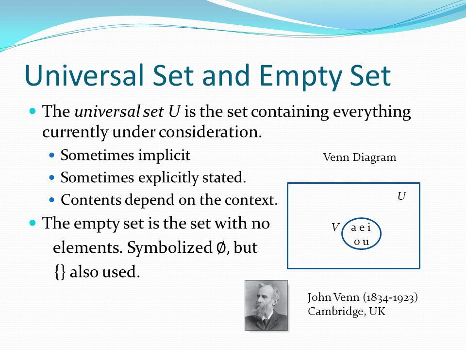 Universal Set and Empty Set