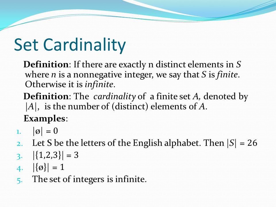 Set Cardinality