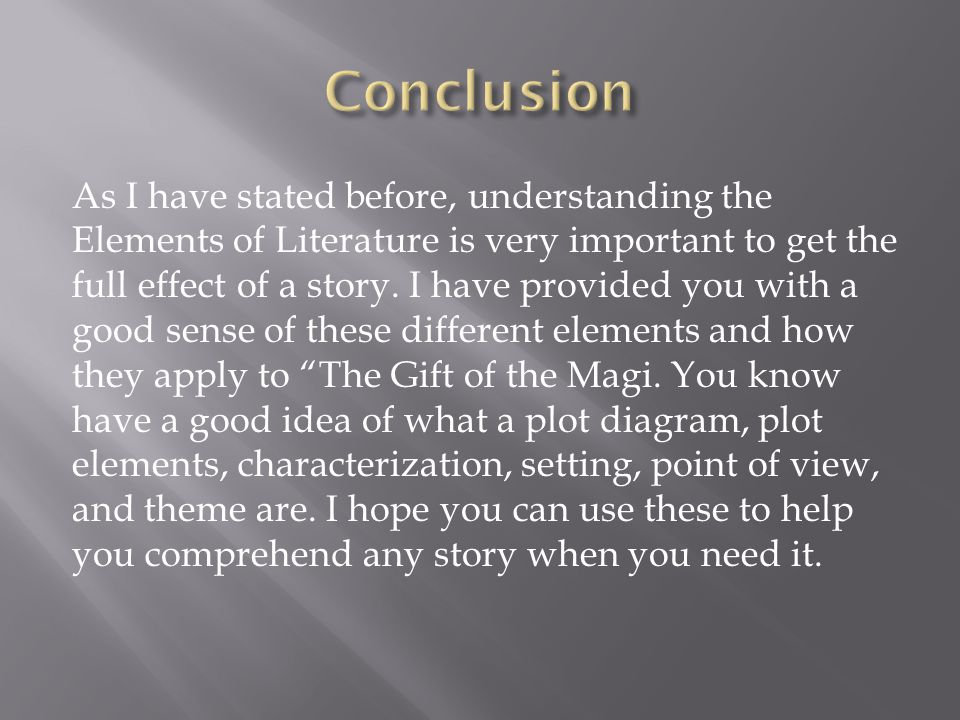 story ldquo the gift of the magi rdquo ppt 21 conclusion