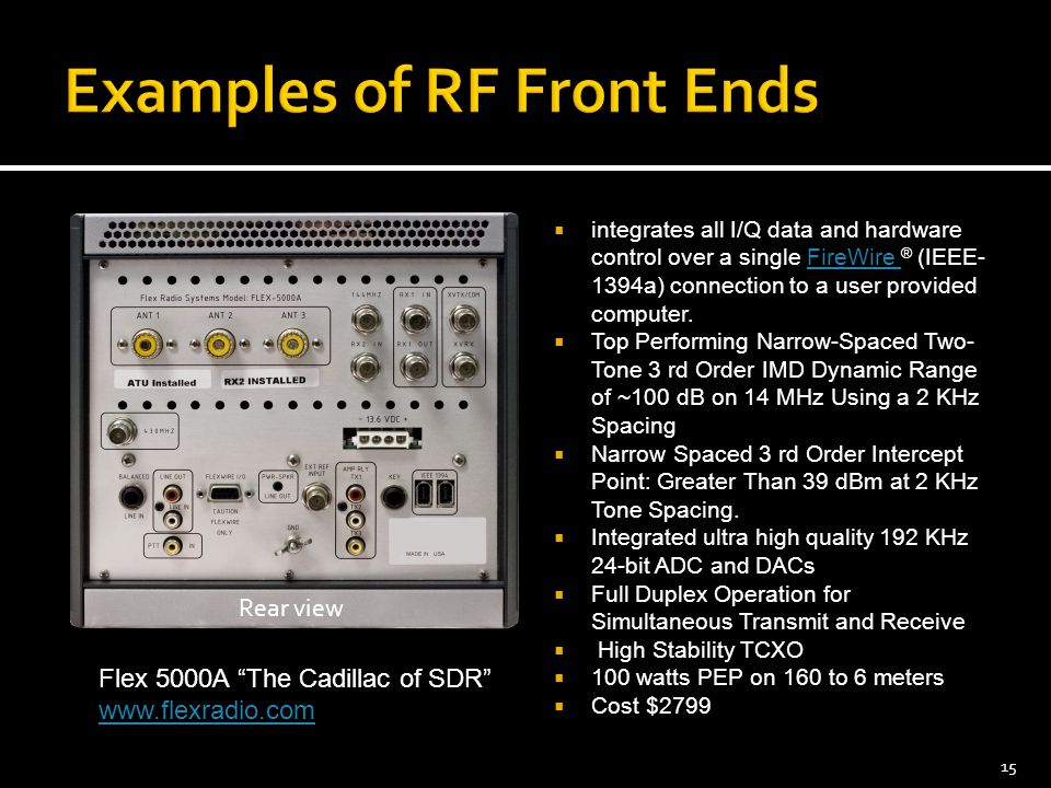 Examples of RF Front Ends