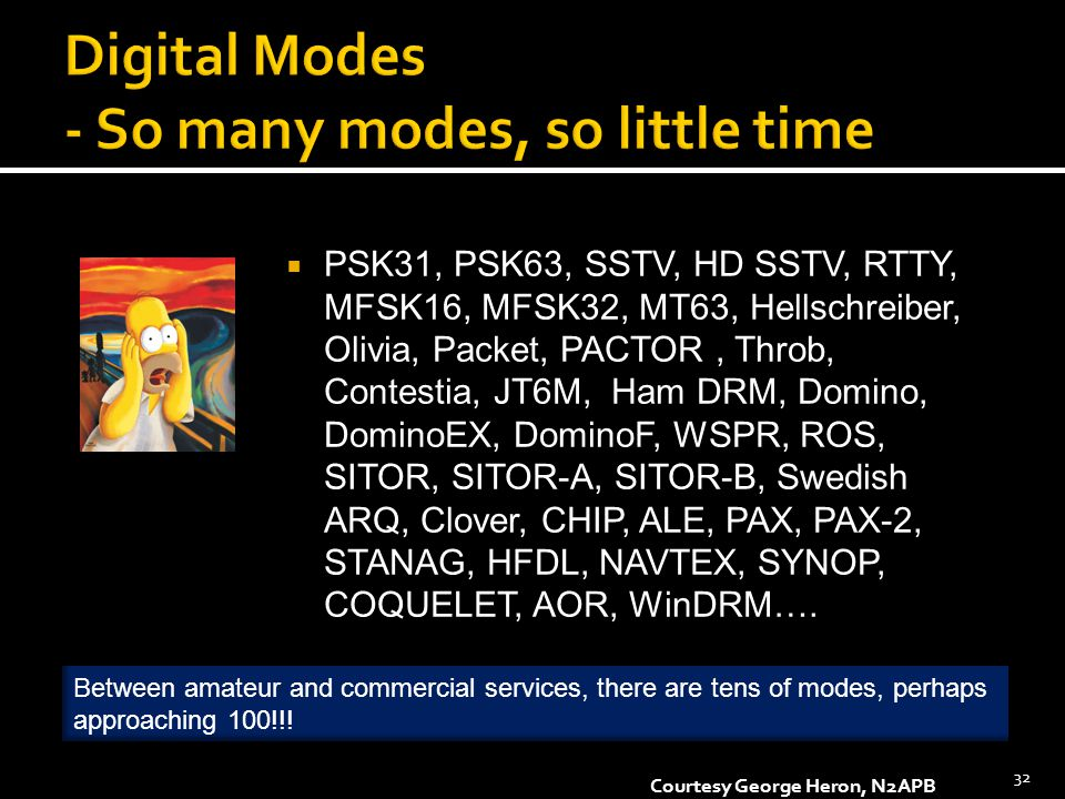 Digital Modes - So many modes, so little time
