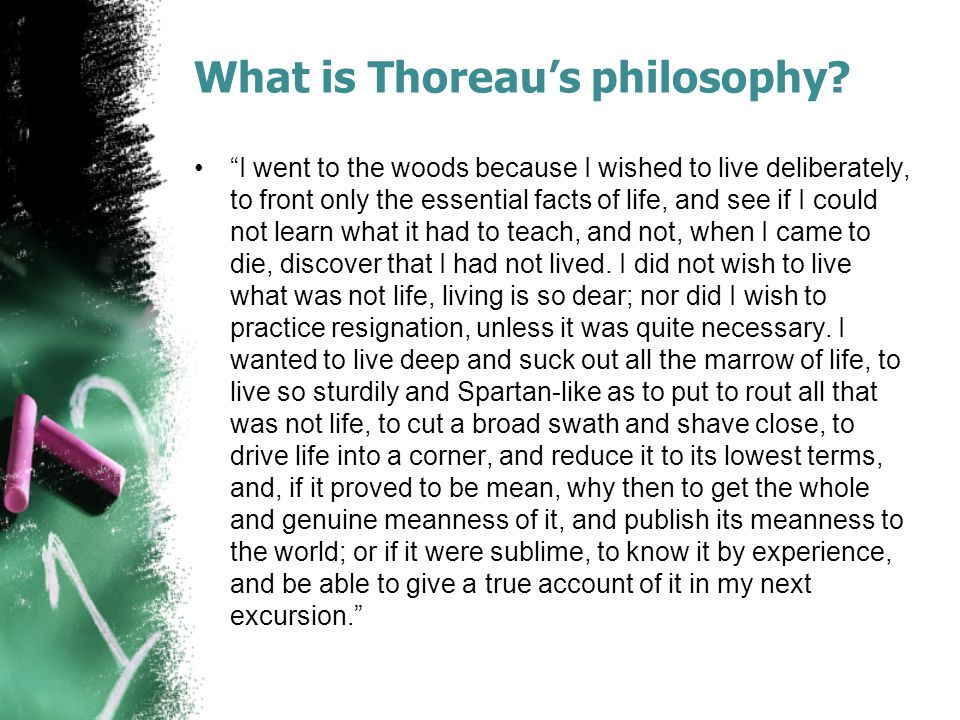 What is Thoreau's philosophy